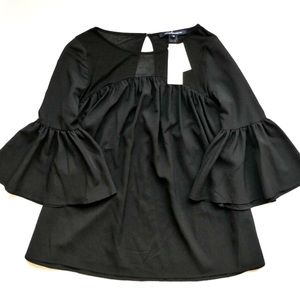 French Connection Bell Sleeve Blouse